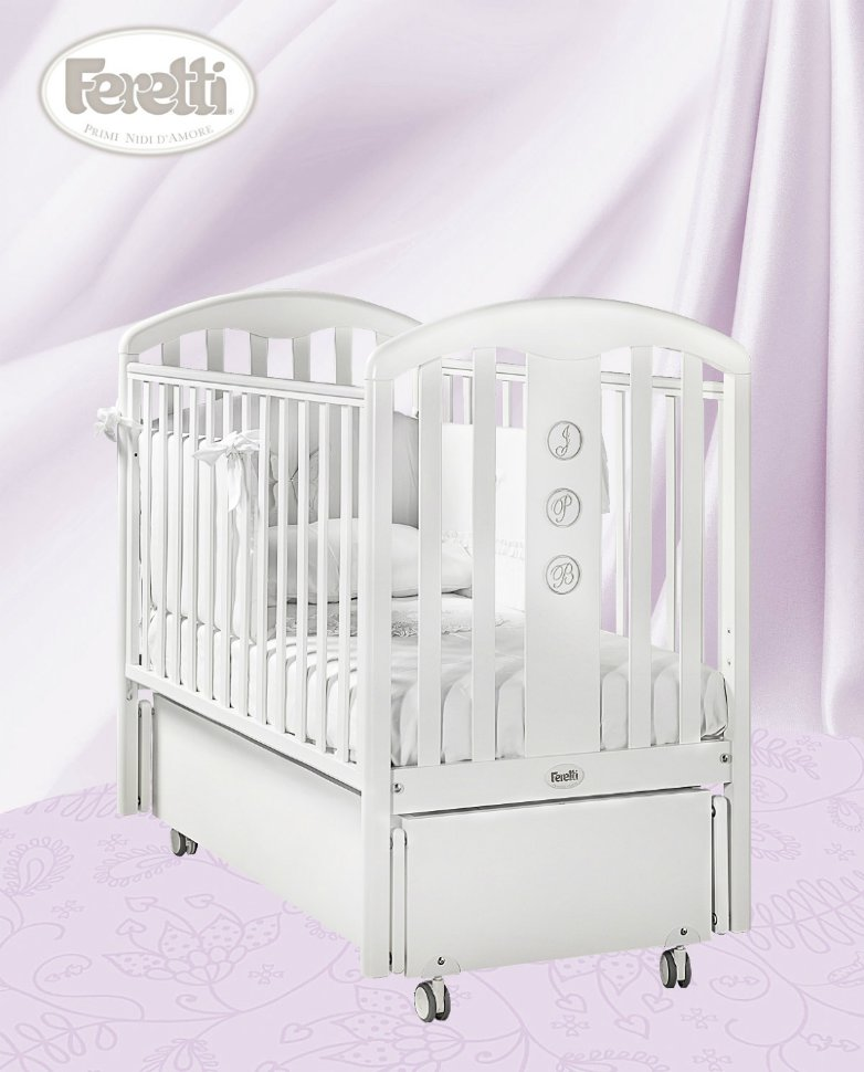 Кровать детская Elegance Swing BiancoДетские кровати и мягкая мебель<br>Кровать детская Elegance Swing Bianco<br>