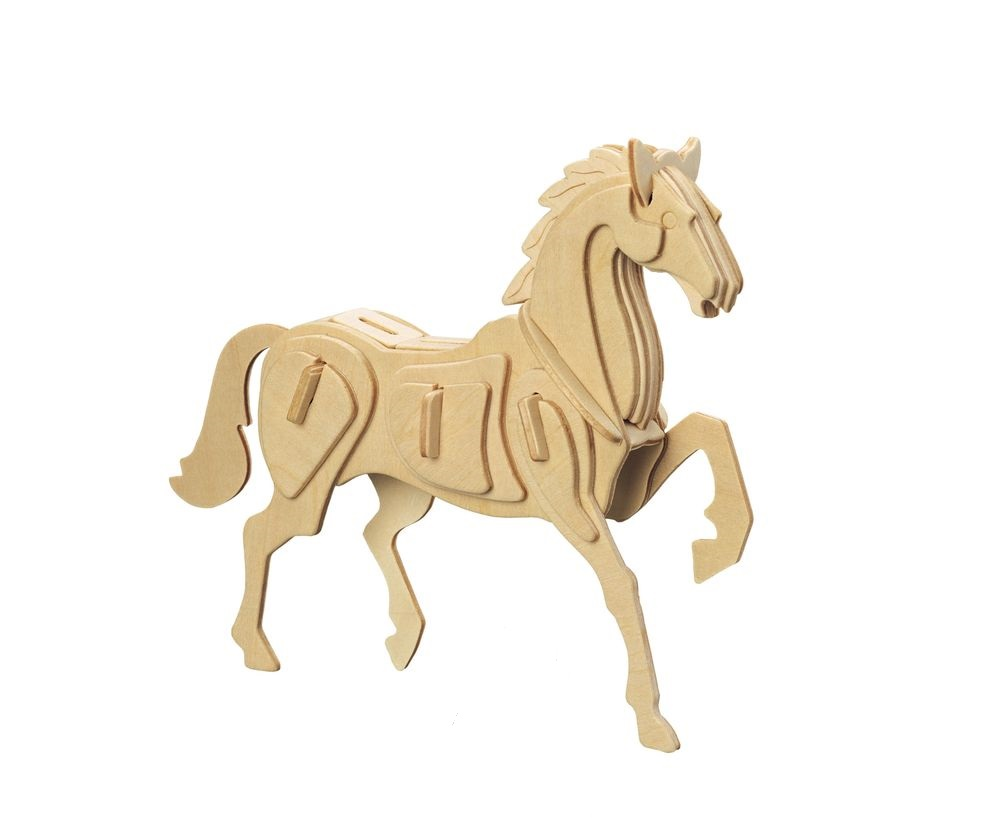 Модель деревянная сборная - ЛошадьПазлы объёмные 3D<br>Модель деревянная сборная - Лошадь<br>