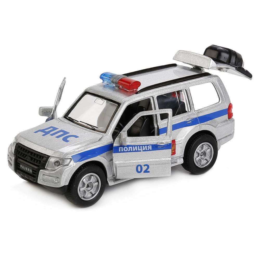 Купить Металлическая инерционная машина – Mitsubishi Pajero Полиция, 12 см -WBsim), Технопарк