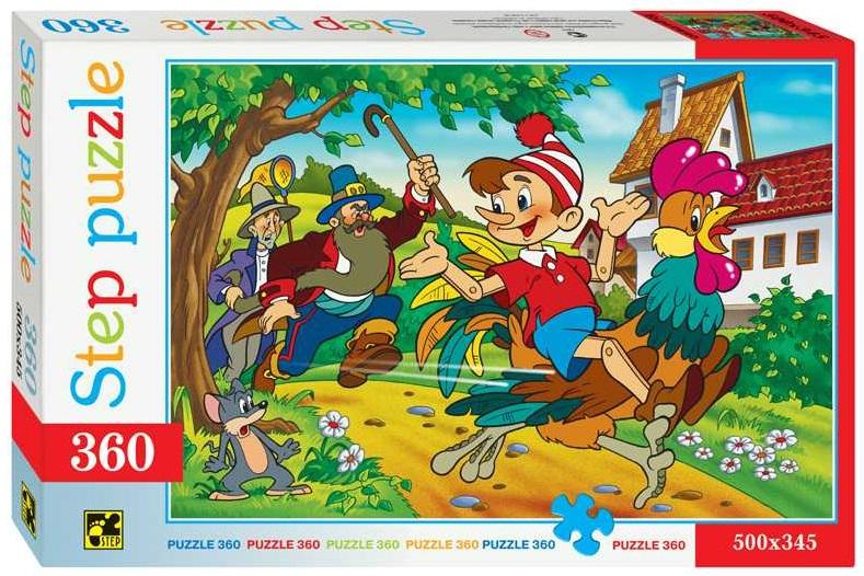 Купить Пазл Буратино, 360 элементов, Step Puzzle