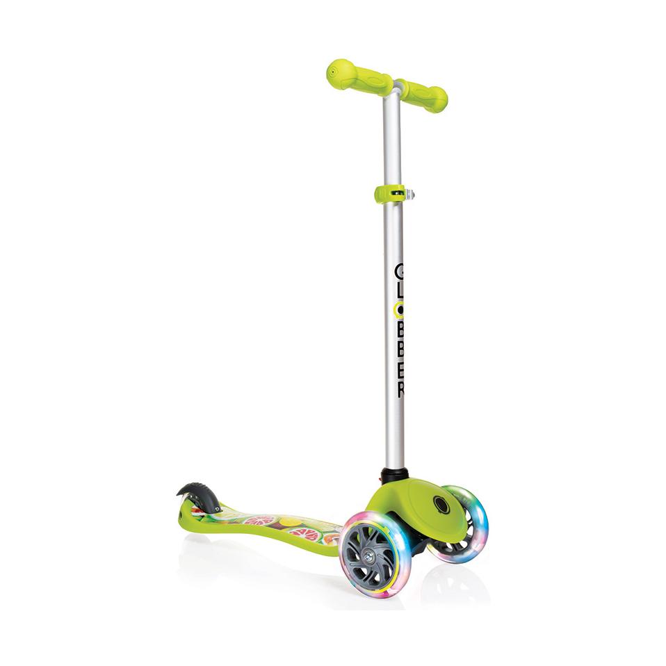 Купить Трехколесный самокат Globber Primo Fantasy Lights, зеленый, светящиеся передние колеса