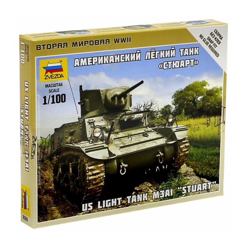 Модель сборная  - Американский легкий танк - СтюартМодели танков для склеивания<br>Модель сборная  - Американский легкий танк - Стюарт<br>