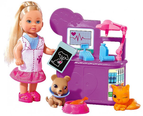 Набор кукла Еви-ветеринар, 12 см.Куклы Еви<br>Набор кукла Еви-ветеринар, 12 см.<br>