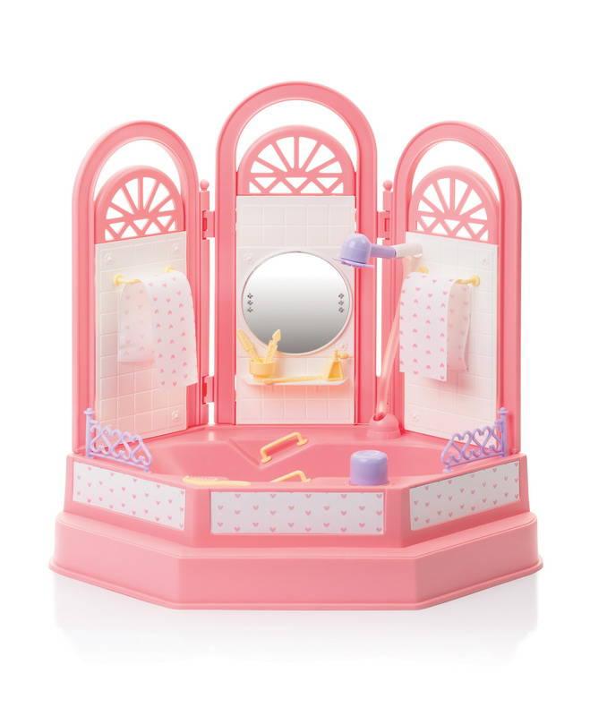 Игровой набор - Ванная комната из серии Маленькая принцесса, с механизмом подачи воды