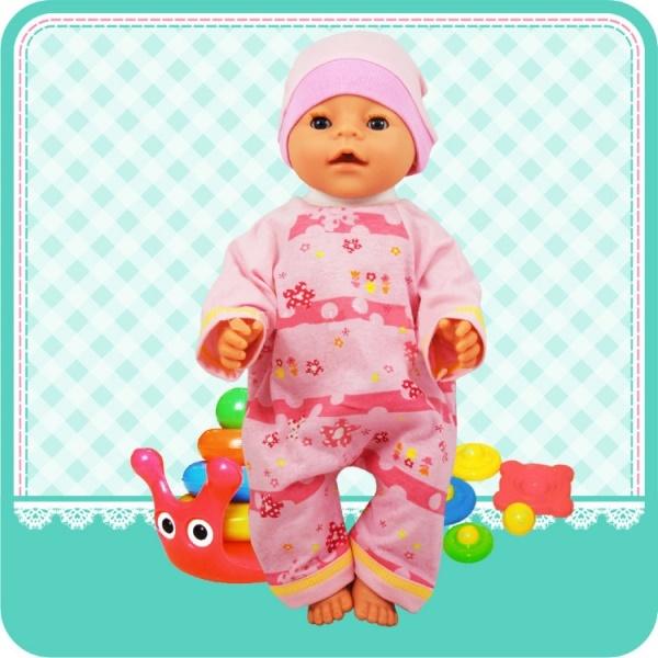 Карапуз Комплект одежды для пупса: комбинезон и шапочка