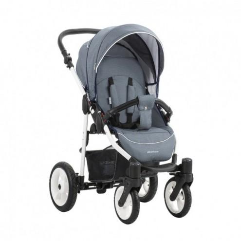 Детская прогулочная коляска – Rainbow, шасси белая/BIA W16Детские прогулочные коляски<br>Детская прогулочная коляска – Rainbow, шасси белая/BIA W16<br>