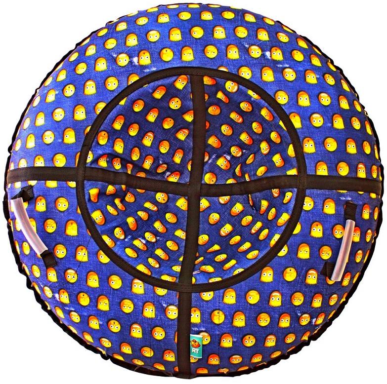 Санки надувные Тюбинг Симпсоны, диаметр 118см.Ватрушки и ледянки<br>Санки надувные Тюбинг Симпсоны, диаметр 118см.<br>