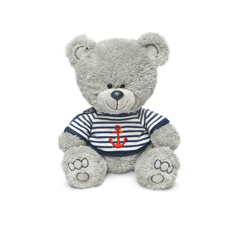 Мягкая игрушка - Медвежонок Ники в матроске с якорем, музыкальный, 21,5 смМедведи<br>Мягкая игрушка - Медвежонок Ники в матроске с якорем, музыкальный, 21,5 см<br>
