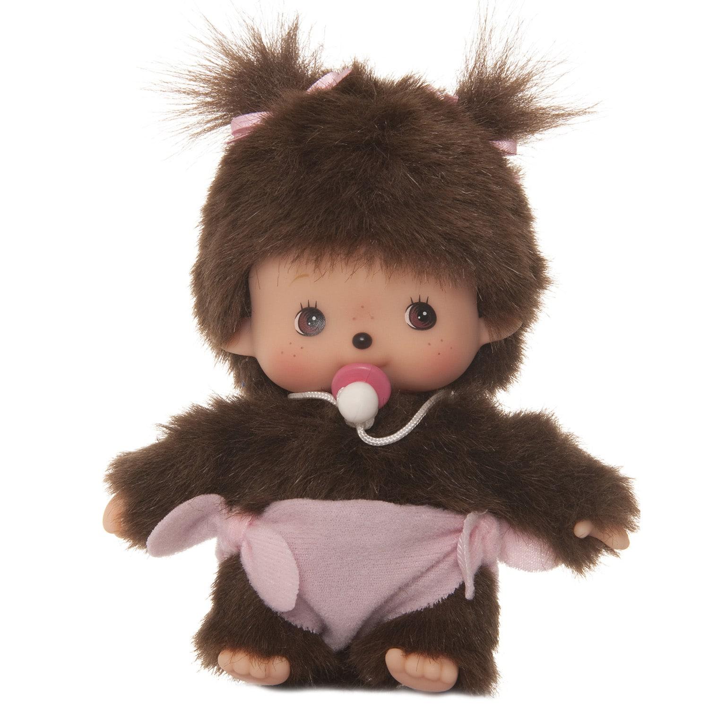 Купить Мягкая игрушка – Девочка Bebichhichi в подгузнике. 15 см, Monchhichi