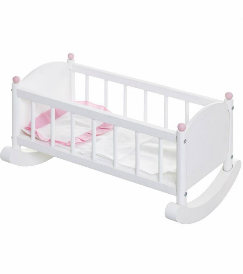 Кукольная люлька, белая - Детские кроватки для кукол, артикул: 160299