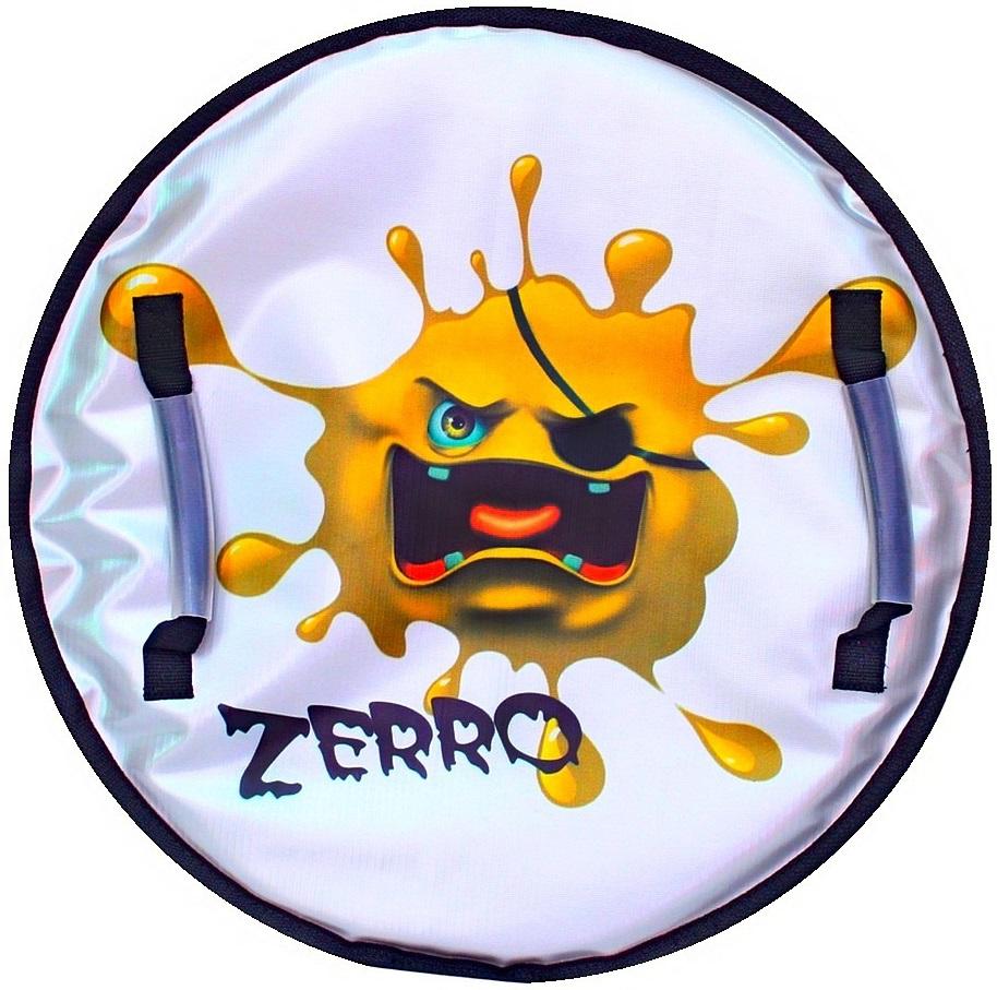 Ледянка Монстрик ZERRO с пластиковым дном, цвет желтый, 50см.Ватрушки и ледянки<br>Ледянка Монстрик ZERRO с пластиковым дном, цвет желтый, 50см.<br>