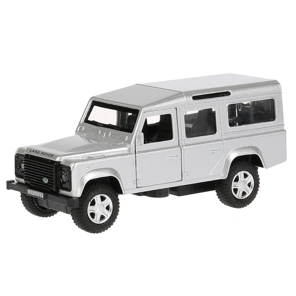 Купить Машина металлическая Land Rover Defender, серебристая, 12 см, открываются двери, инерционная, Технопарк