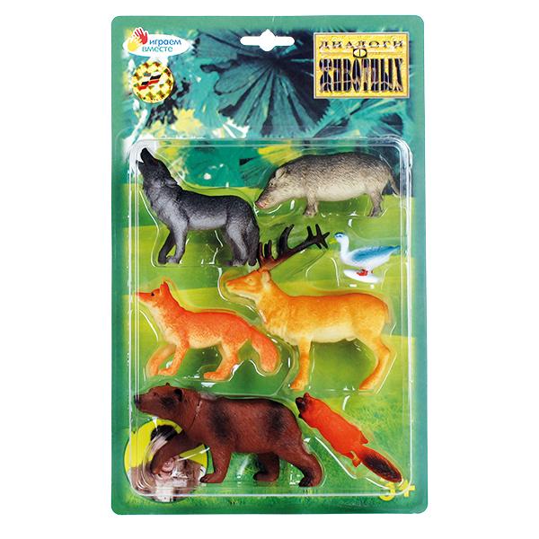 Набор из 7-и лесных животных, 8 см.Лесная жизнь (Woodland)<br>Набор из 7-и лесных животных, 8 см.<br>