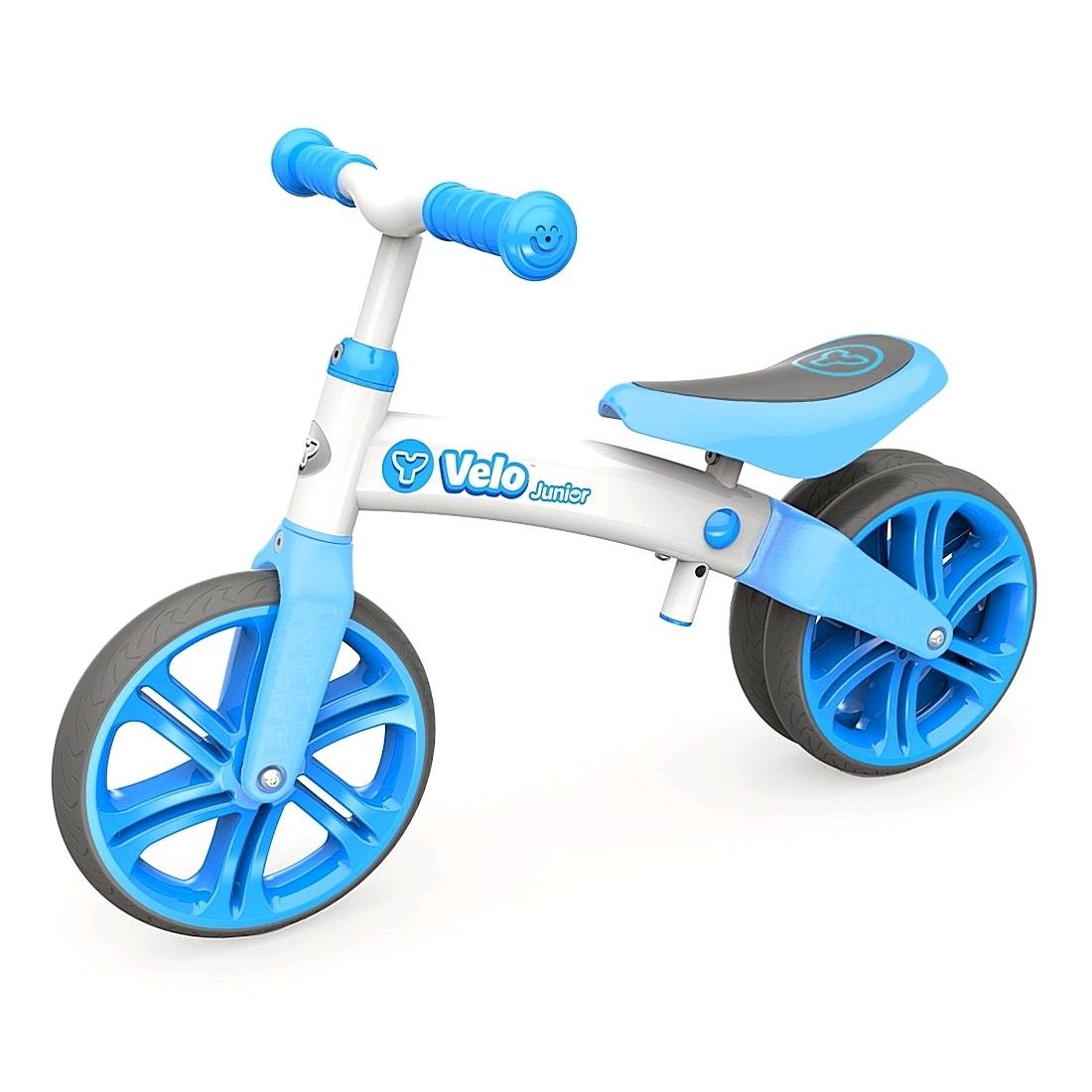 Беговел Velo Junior, цвет – голубой, YVolution  - купить со скидкой