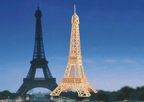 Сборная деревянная модель - Эйфелева башняПазлы объёмные 3D<br>Сборная деревянная модель - Эйфелева башня<br>