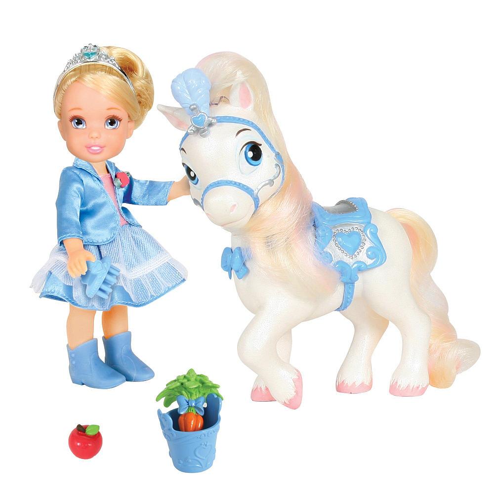 Кукла-малышка с конём серии Принцессы Дисней, Disney PrincessКуклы Disney: Ариэль, Золушка, Белоснежка, Рапунцель<br>Кукла-малышка с конём серии Принцессы Дисней, Disney Princess<br>