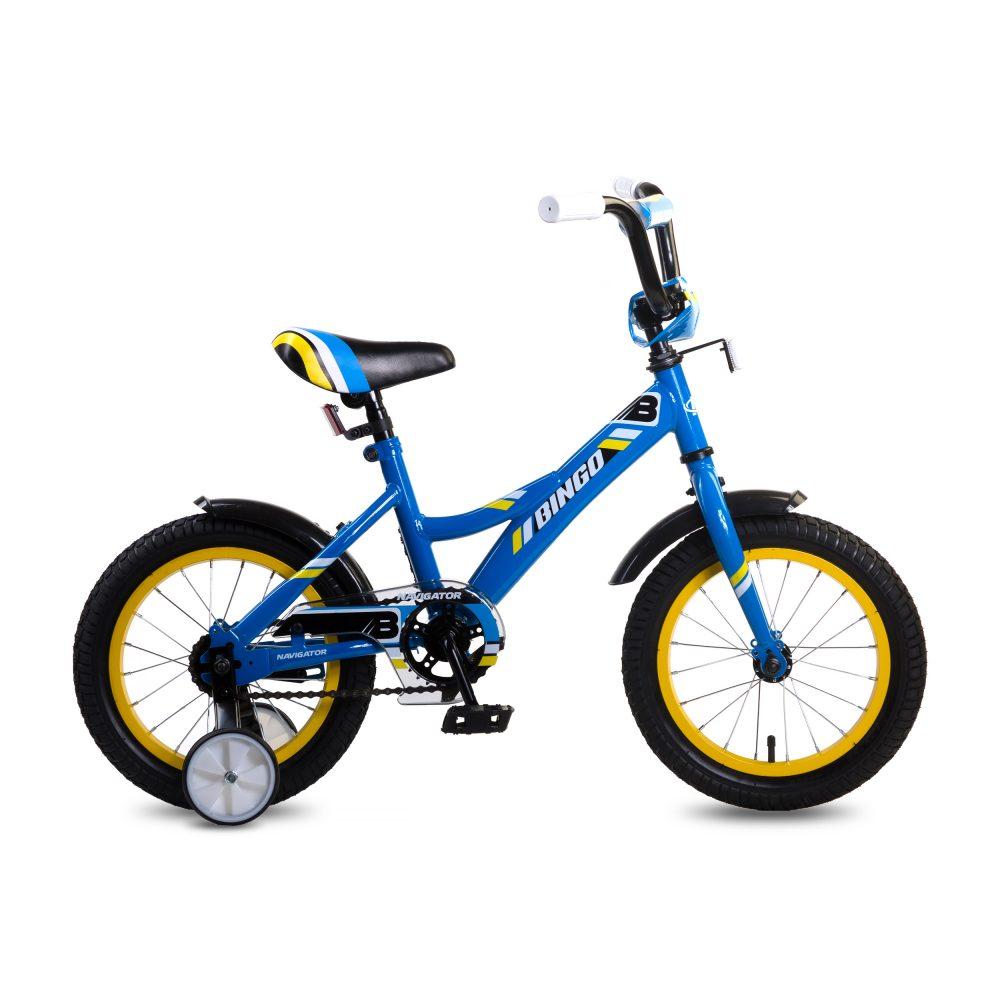 Купить Детский велосипед Navigator Bingo синий, колеса 14 , стальная рама, стальные обода, ножной тормоз