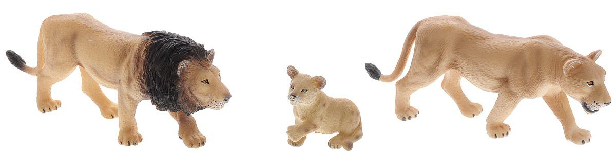 Mojo Набор Animal Planet - Львиное семейство, малый