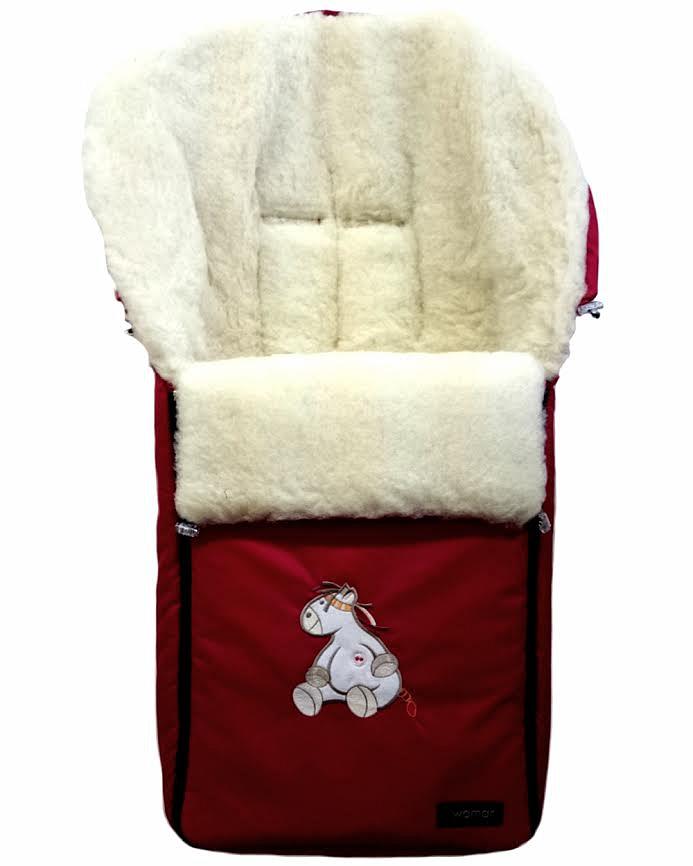 Спальный мешок в коляску №06 – Aurora, красныйЗимние конверты<br>Спальный мешок в коляску №06 – Aurora, красный<br>