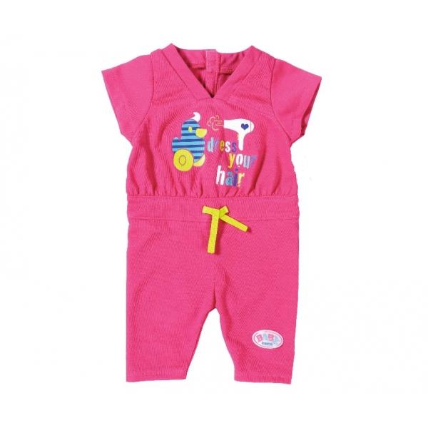 Фото #1: Одежда для кукол ™Карапуз, 40-42 см - Розовый комбинезон с шапкой Зайка в пакете