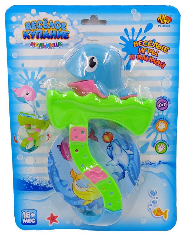Дельфин для ванной, в наборе с аксессуарами - 2 предмета, 2 вида. Веселое купаниеРазвивающие игрушки<br>Дельфин для ванной, в наборе с аксессуарами - 2 предмета, 2 вида. Веселое купание<br>
