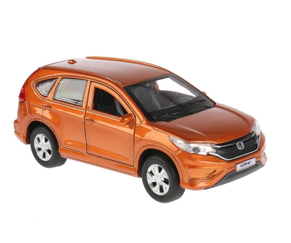Купить со скидкой Инерционная металлическая машина - Honda CR-V, золотой, 12 см, открываются двери