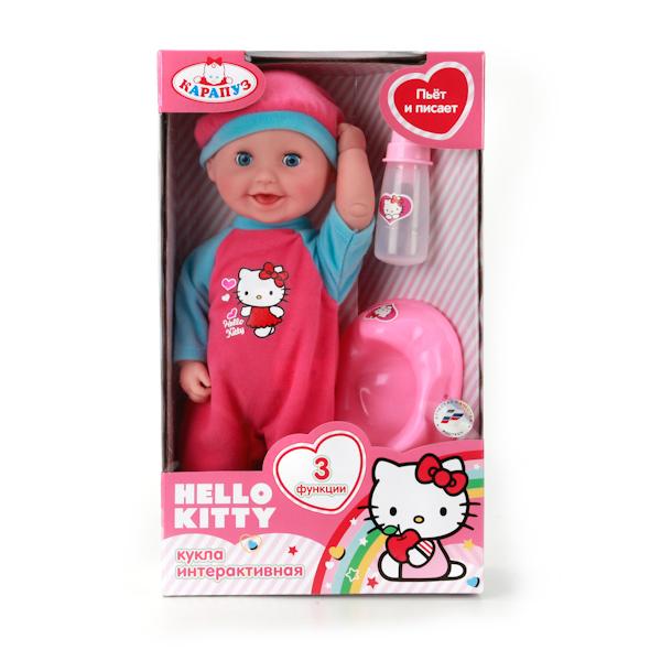 Интерактивный пупс Hello Kitty 30 см, 3 функцииКуклы Карапуз<br>Интерактивный пупс Hello Kitty 30 см, 3 функции<br>