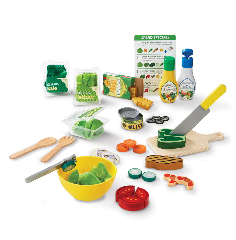 Набор для приготовления салата - Готовь и играйАксессуары и техника для детской кухни<br>Набор для приготовления салата - Готовь и играй<br>