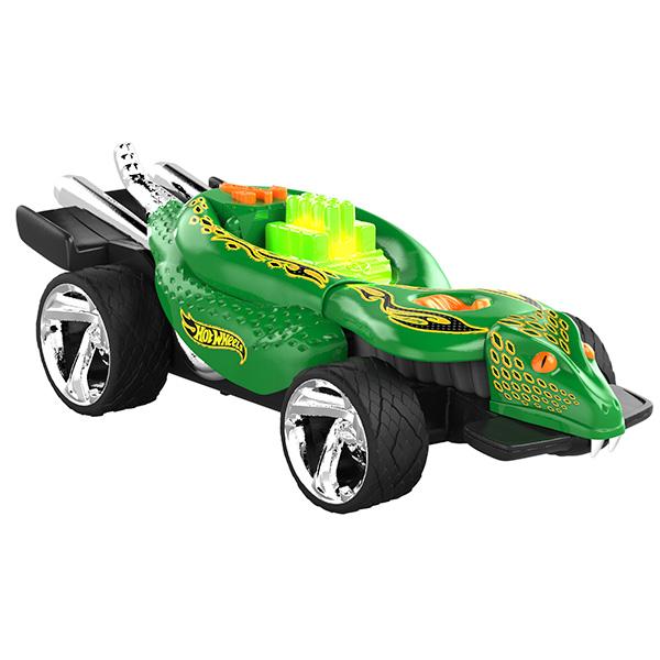 Электромеханическая машинка Hot Wheels со светом и звуком – Питон, зелёная, 23 смHot Wheels<br>Электромеханическая машинка Hot Wheels со светом и звуком – Питон, зелёная, 23 см<br>
