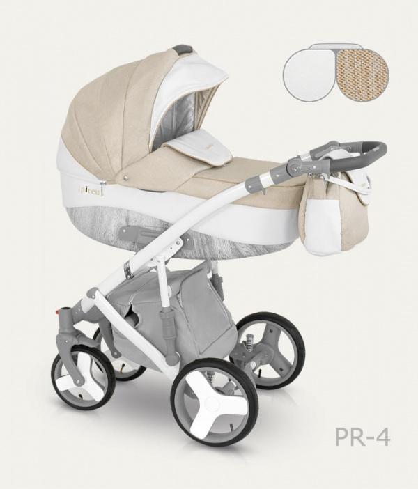 Детская коляска Camarelo Pireus 2 в 1, бежево-белаяДетские коляски 2 в 1<br>Детская коляска Camarelo Pireus 2 в 1, бежево-белая<br>