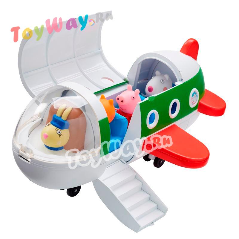 Купить Игровой набор – Самолет с фигуркой из серии Свинка Пеппа, Росмэн