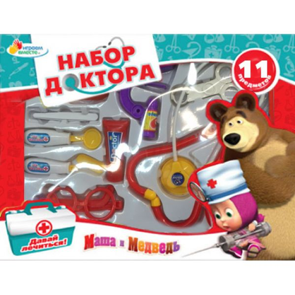 Набор доктора - Маша и МедведьНаборы доктора детские<br>Набор доктора - Маша и Медведь<br>