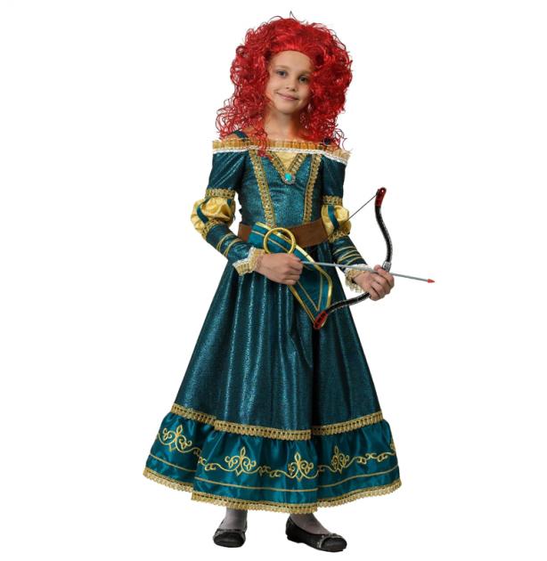 Костюм Звездный маскарад - Принцесса Мерида Дисней, размер 128 фото