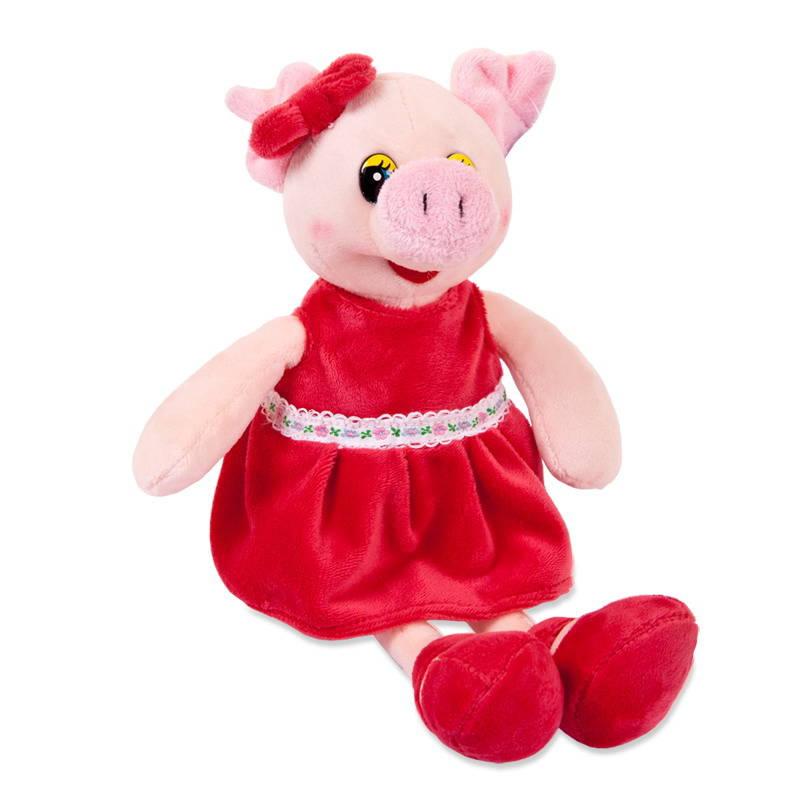 Свинка в красном платье, 16 см, Chuzhou Greenery Toys Co  - купить со скидкой
