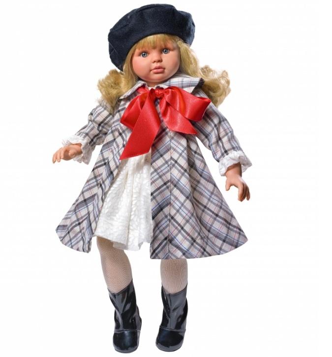 Кукла Пепа в клетчатом пальто, 60 см.Куклы ASI (Испания)<br>Кукла Пепа в клетчатом пальто, 60 см.<br>