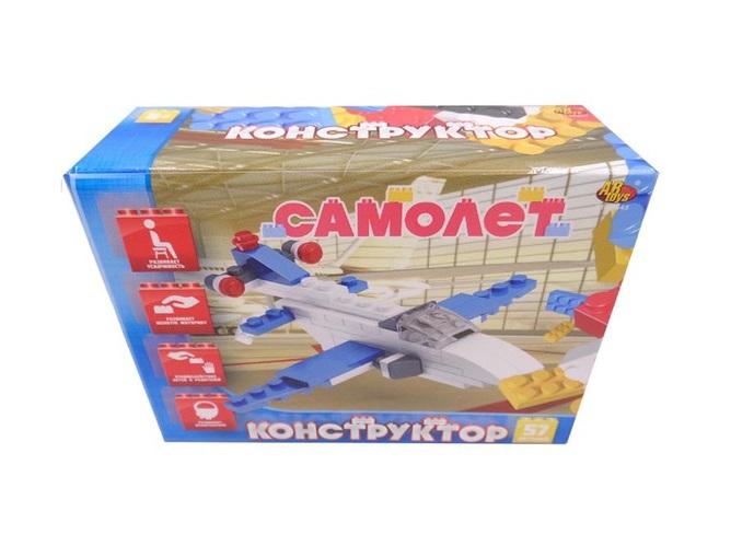 Конструктор - Самолет, 57 деталейКонструкторы других производителей<br>Конструктор - Самолет, 57 деталей<br>