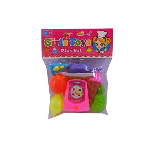 Игровой набор - Весы с продуктамиДетская игрушка Касса. Магазин. Супермаркет<br>Игровой набор - Весы с продуктами<br>
