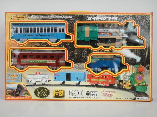 Железная дорога со световыми и звуковыми эффектамиДетская железная дорога<br>Железная дорога со световыми и звуковыми эффектами<br>