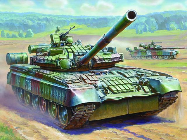 Модель для склеивания  Танк Т-80БВ - Модели для склеивания, артикул: 98518