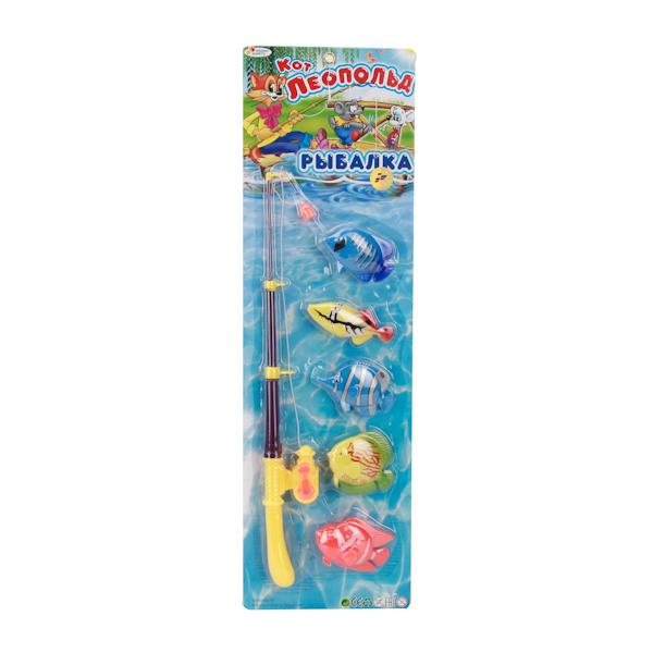 Игра Рыбалка из серии Кот Леопольд, 5 рыбокИгрушки для ванной<br>Игра Рыбалка из серии Кот Леопольд, 5 рыбок<br>