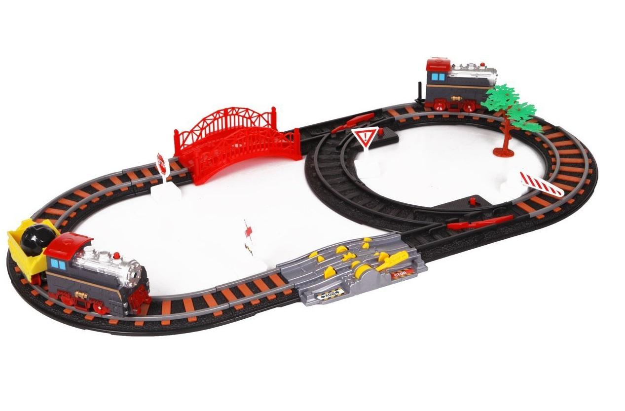 Железная дорога - Останови крушение, с 2-мя стрелками и механизмом остановкиДетская железная дорога<br>Железная дорога - Останови крушение, с 2-мя стрелками и механизмом остановки<br>
