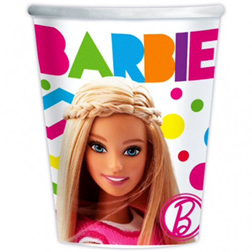 Набор одноразовых стаканов Барби, 270 мл, 8 штукBarbie (Барби)<br>Набор одноразовых стаканов Барби, 270 мл, 8 штук<br>