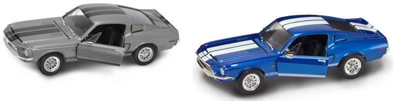 Коллекционный автомобиль 1968 года - Шелби GT 500KR, масштаб 1/18Винтажные модели<br>Коллекционный автомобиль 1968 года - Шелби GT 500KR, масштаб 1/18<br>