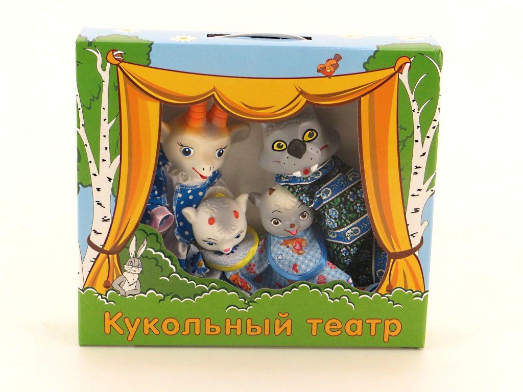 Кукольный театр - Волк и семеро козлятДетский кукольный театр <br>Кукольный театр - Волк и семеро козлят<br>