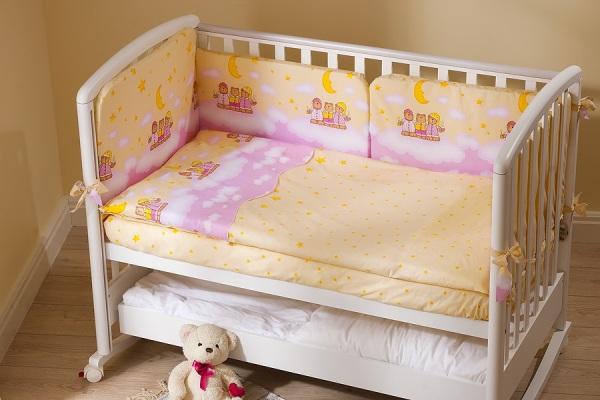Комплект постельного белья - Аманда, розовыйДетское постельное белье<br>Комплект постельного белья - Аманда, розовый<br>