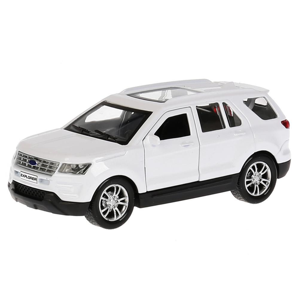 Купить Машина металлическая инерционная Ford Explorer, 12 см, открываются двери, цвет белый, Технопарк