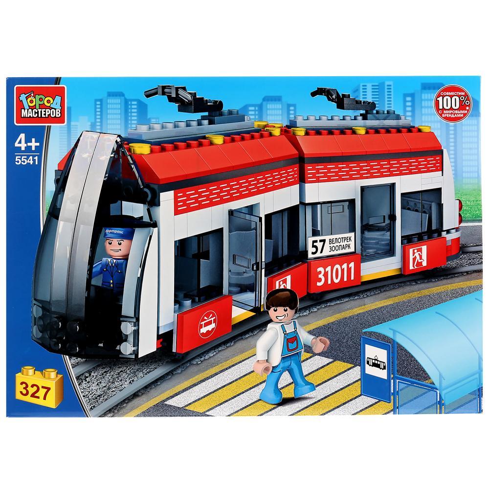 Купить Конструктор - Новый трамвай, 327 деталей, Город мастеров