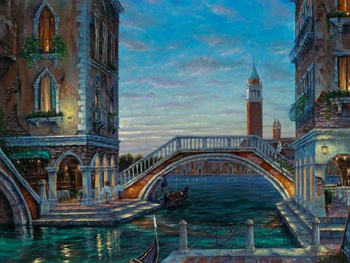 Купить Раскраски по номерам - Картина «Каналы Венеции», 40 х 50 см., Белоснежка