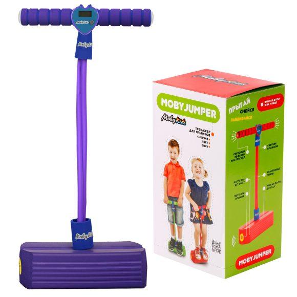 Купить Тренажер для прыжков со счетчиком, светом и звуком MobyJumper, фиолетовый, Moby Kids