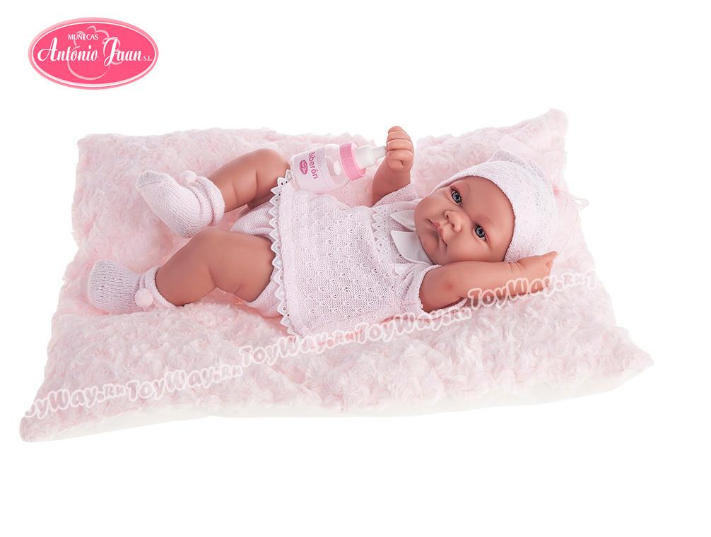 Кукла-младенец Ника в розовом, 42 см.Куклы Антонио Хуан (Antonio Juan Munecas)<br>Кукла-младенец Ника в розовом, 42 см.<br>